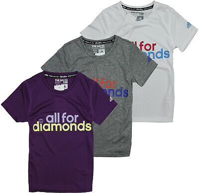 Adidas Youth Girls All For Diamonds Climalite Graphic Tee, Color Options