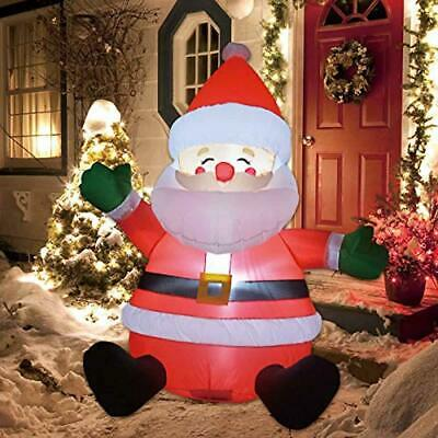 Vintage Santa Claus 5ft Lighted Blow Mold Christmas Plastic