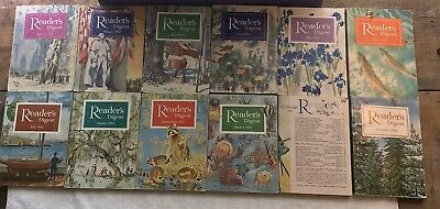 Readers Digest Magazine 1964 Complete Year Set Lot 12 Soft Cover Reader's