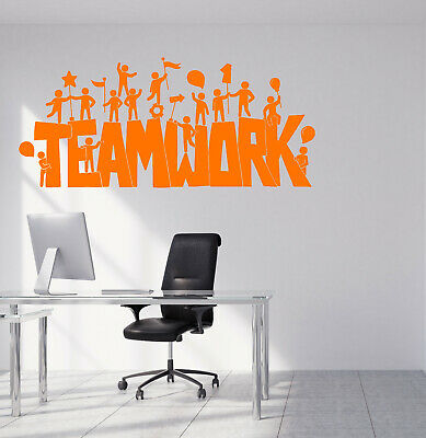 2332ig Vinyl Wall Decal Stickers Motivation Quote Words Teamwork Home Office