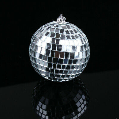 15cm Disco Mirror Ball DJ Light Silver Dance Party Stage Lights Eve AU SELLER