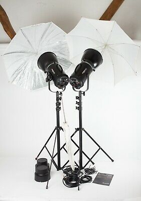 Courtenay Solaflash 2000 - 2 Head Studio Flash Outfit + Stands, Brollies, Leads.