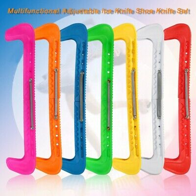 One Pair Adjustable Ice Hockey Figure Skate Blade Guards Covers Walk Protect