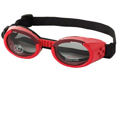 Doggles ILS Dog Goggles Sunglasses Red/Smoke Large