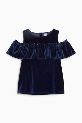 Bnwt Next Navy Velour Top Size 7 Years