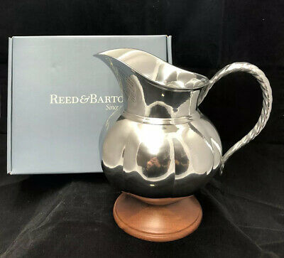 """Reed & Barton Metal Water Pitcher """"The Bannister Collection"""" New In Box"""