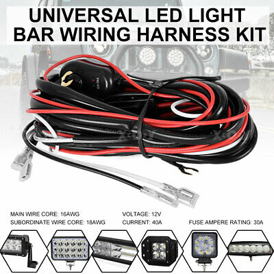 40A 12V WIRING Harness Kit With Switch And Relay LED Light ... Yl S Relay Wiring Diagram on