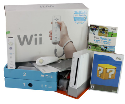 Nintendo Wii Sports White Console - Complete in Box - Bundle Extra Game Lot