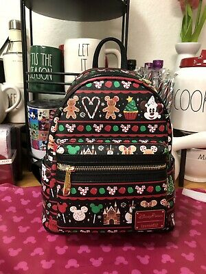 Disney Parks Loungefly Holiday Food Icons Mini Backpack