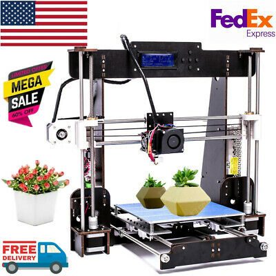2019 Upgraded Quality High Precision Reprap Prusa i3 DIY A8-W5 Printer From US
