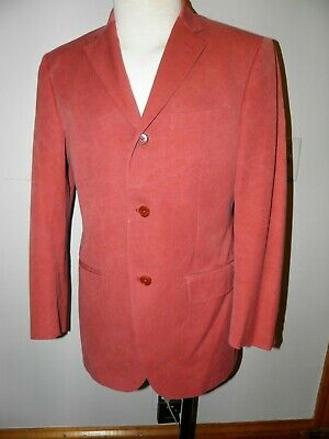 Cantarelli For Bergdorf Goodman Blazer Rose Red Cotton Wash 40R Made In Italy