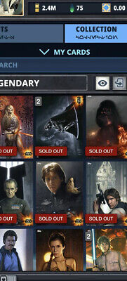 Topps Star Wars Card Trader Full Account Since 2015