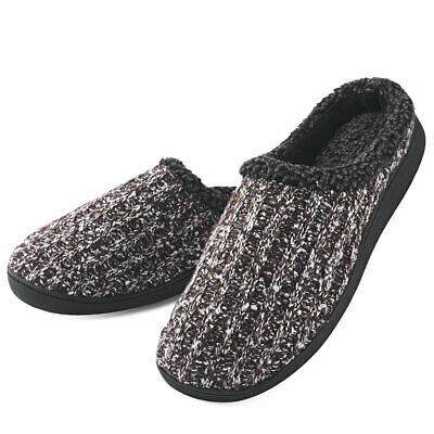 Men's Comfort Memory Foam Slippers with Plush Fleece Lining Slip On House Shoes