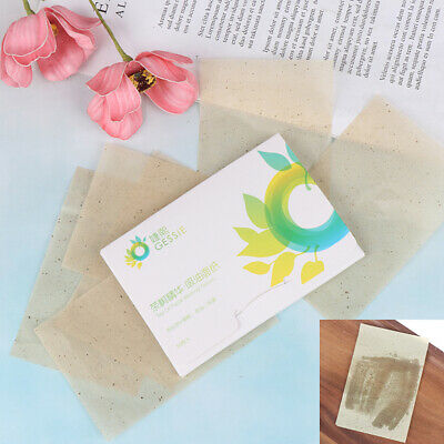 50pcs Facial Oil Control Papers Wipes Sheets Absorbing Face Clean Green .FR