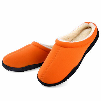 Men's Winter Warm Fleece Lined Memory Foam Slippers Slip On House Shoes