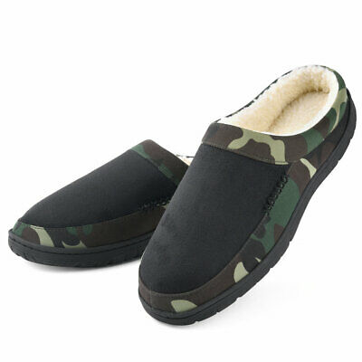 Men's Slippers Memory Foam Fleece Slip-on House Shoes Camouflage (Clearance)