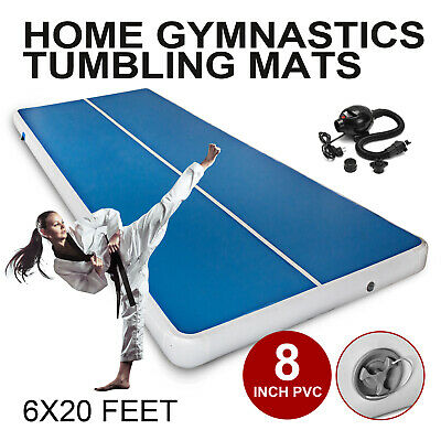 6x20FT Airtrack Air Track Floor Home Inflatable Gymnastic Tumbling Mat GYM Pump