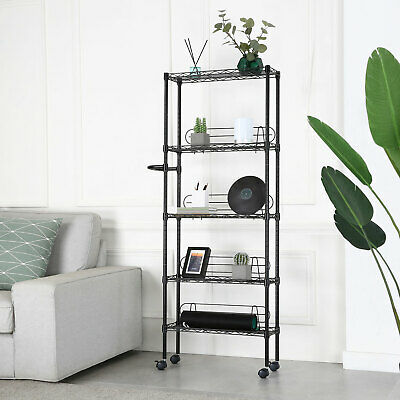 """Wire Shelving Unit with Wheels Shelving Units and Storage 23.2""""7.5""""x60.6"""""""