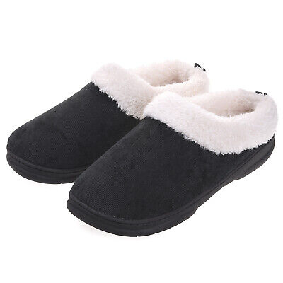 VONMAY Men's Slippers House Shoes Fuzzy Fluffy Clog Slip On Memory Foam Indoor