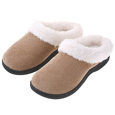 VONMAY Women's Slippers House Shoes Fuzzy Fluffy Clog Slip On Memory Foam