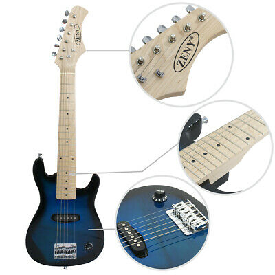 """Beginner Kids 30"""" Blue Electric Guitar Kit With 5W AMP+Strap+Cord+Gigbag New"""