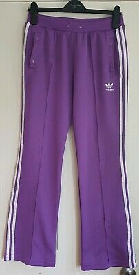 adidas purple flared  track pants joggers 12