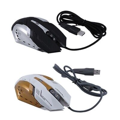 4X(KINGANGJIA G500 Alloy Chassis Shining ESports Gaming Mouse USB Wired Gam7C4)