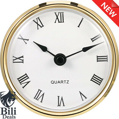 3-1/8 Inch (80 mm) Quartz Clock Fit-up/ Insert with Roman Numeral, Quartz Moveme