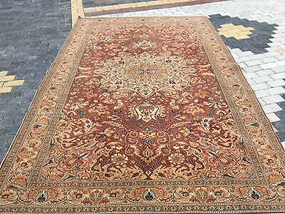 Turkish Rug Ottoman Palace Rug Oversized Red Hand Woven Wool Floral 50 Years Old