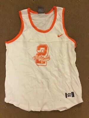 NEW NIKE white 164-175xm ORANGE TRIM VEST TOP age 10 12