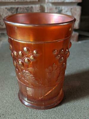 Antique Imperial Northwoods Raspberry Carnival Glass Tumbler