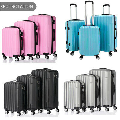 Luggage Set 3 PCS Travel Hardshell Suitcase Lightweight Spinner Trolley Business