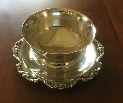 Vintage Wallace - Royal Rose - Heavy Silverplate Gravy Sauce Bowl Boat