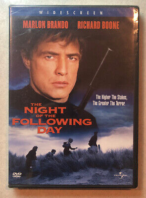 New/Sealed THE NIGHT OF THE FOLLOWING DAY Widescreen DVD Thriller FREE SHIPPING!