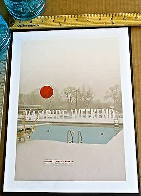 Vampire Weekend Mini-Concert Poster Reprint for 2013 Austin City Limits 14x10