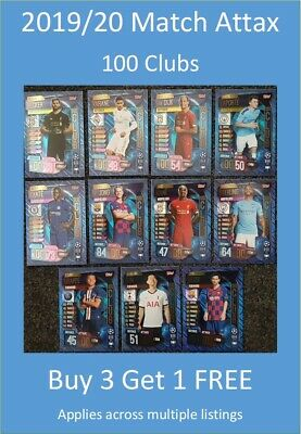 2019/20 Match Attax UEFA Champions League - 100 Club Cards (int'l)