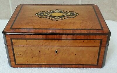 Antique 19th Century French Thuya Sewing Box. Rare Complete Interior! Contents!