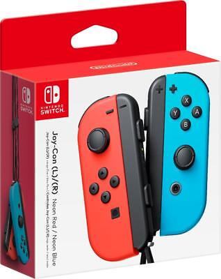 Joy-Con (L/R) Wireless Controllers for Nintendo Switch - Neon Red/Neon Blue