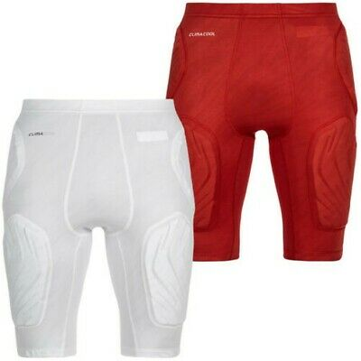 Adidas Men's Padded Training Fitness Basketball Techfit Shorts White Red New