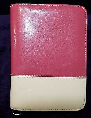 Franklin Covey Red over Tan Day Planner