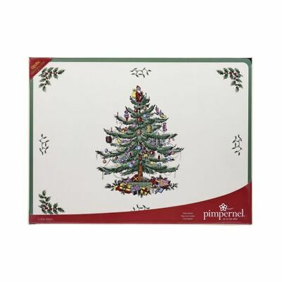 Spode Christmas Tree 30 x 23 cm Placemats / Table Mats - Set of 6 BNIB