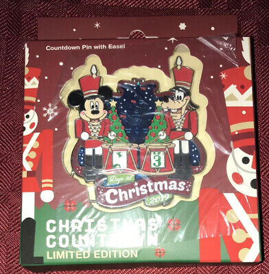 Disney Parks Christmas Countdown 2019 Pin LE 3000 Mickey/Goofy Toy Soldiers