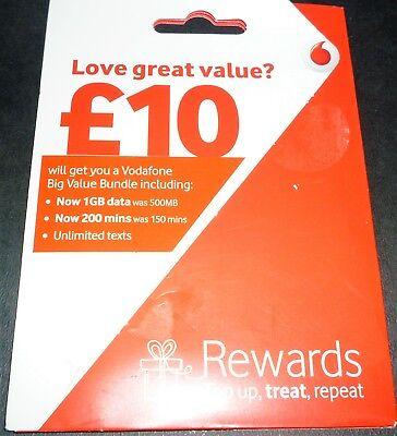 Vodafone UK Pay As You Go PAYG Standard, Micro & Nano Triple SIM Card FOR IPHONE