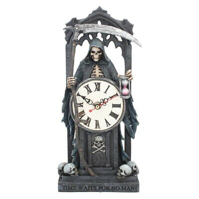 Time Waits No Man Clock Reaper Anne Stokes Grim Gothic Figurine Horror Occult