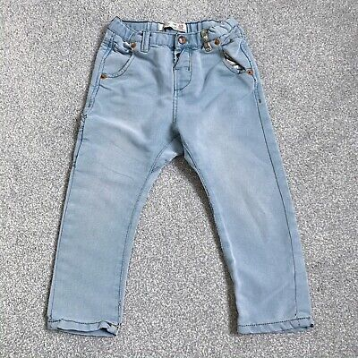 ZARA Boy Jeans Drop Crotch great condition Denim Trousers 3-4 years