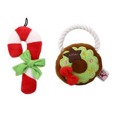 Christmas Chew Toy Festival Pet Puppy Doggy Chew Squeeze Training Toys In D_X