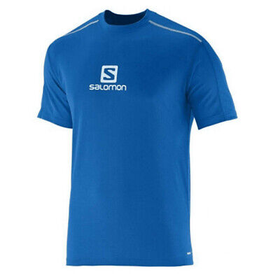 SALOMON EXO MOTION HZ Herren Trail Running Shirt blau, Gr