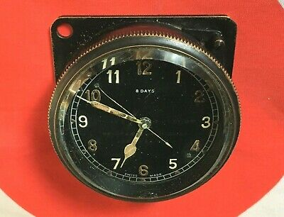 Raf S. Smith & Sons Mk Ii 8 Day Rim-Wound Cockpit Clock, 6A/579, 1938 Dated