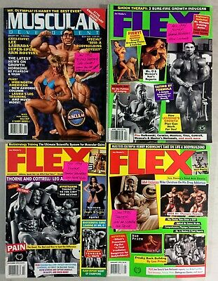 4 Bodybuilding Magazines  Posters LEE HANEY LOU FERRIGNO SHAWN RAY Female Muscle