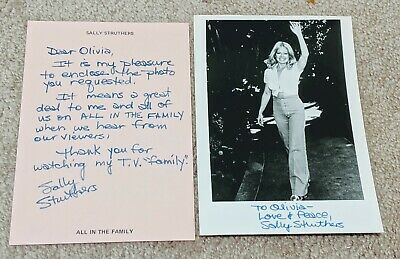 Sally Struthers autograph Signed 5 x 7 Photo and letter All in Family TV Show